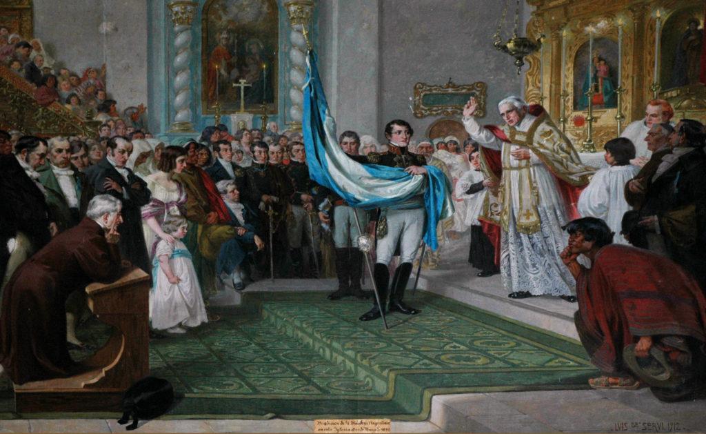 Educación incorporó al Anuario Escolar la conmemoración de la primera jura y bendición de la Bandera Nacional
