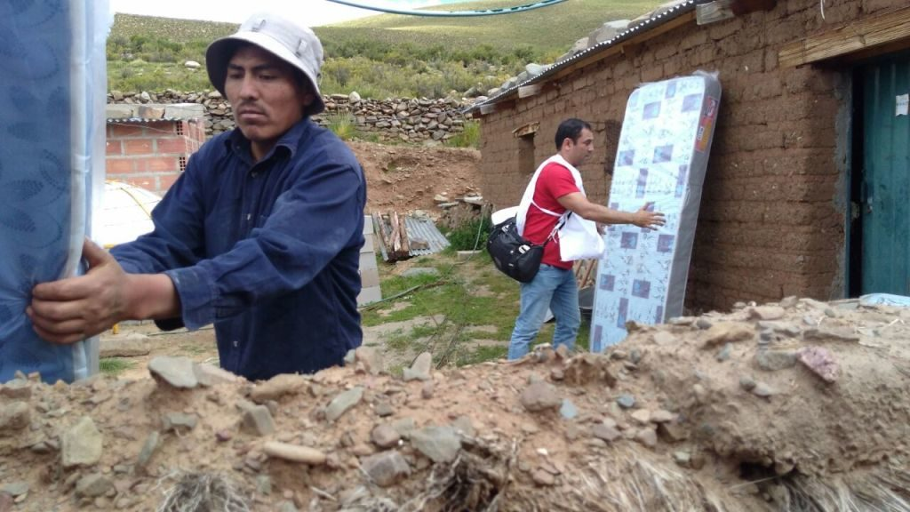 Familias afectadas por el temporal en Santa Catalina recibieron elementos de primera necesidad